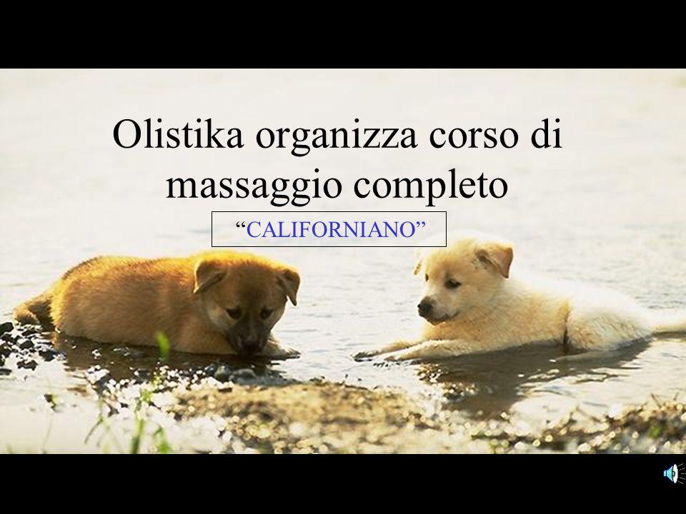 Olistika organizza corso di massaggio completo CALIFORNIANO
