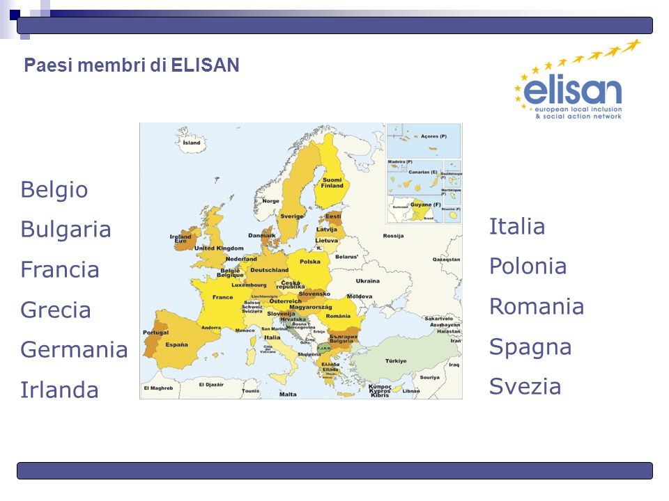 Paesi membri di ELISAN Italia Polonia Romania Spagna Svezia Belgio Bulgaria Francia Grecia Germania Irlanda