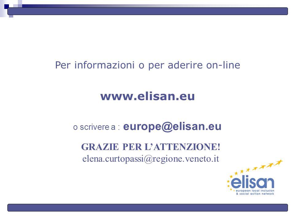Per informazioni o per aderire on-line www.elisan.eu o scrivere a : europe@elisan.eu GRAZIE PER LATTENZIONE.