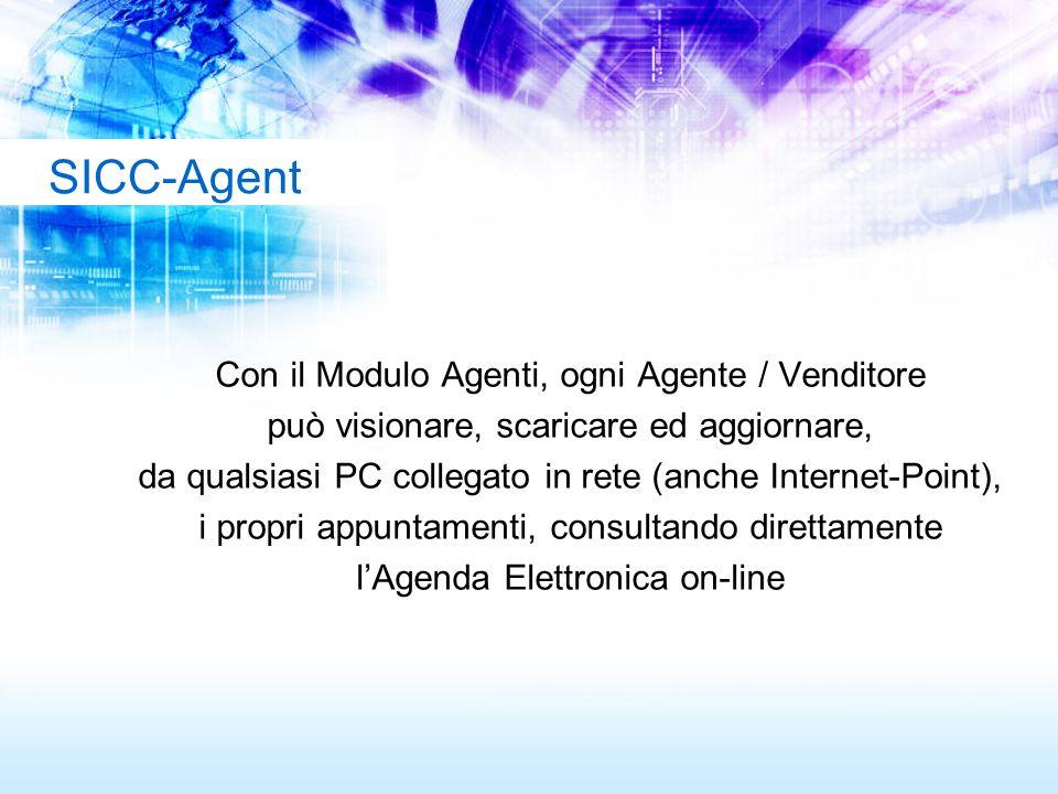 Con il Modulo Agenti, ogni Agente / Venditore può visionare, scaricare ed aggiornare, da qualsiasi PC collegato in rete (anche Internet-Point), i prop