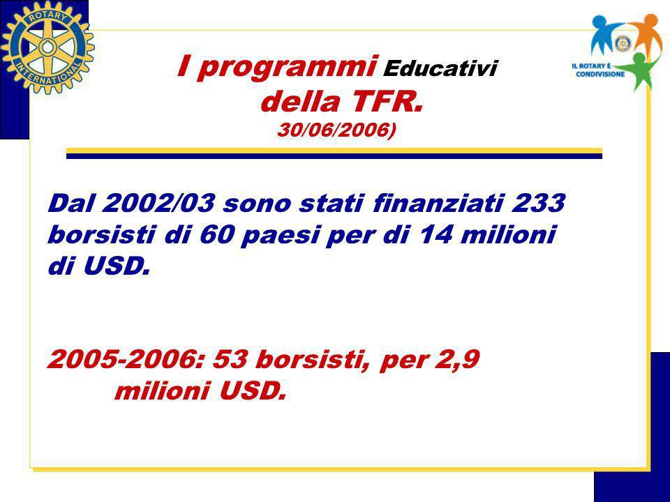 I programmi Educativi della TFR.
