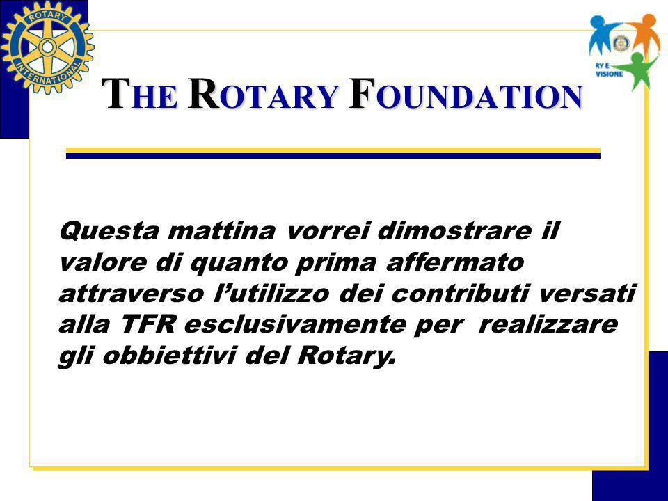 I programmi Umanitari della TRF.