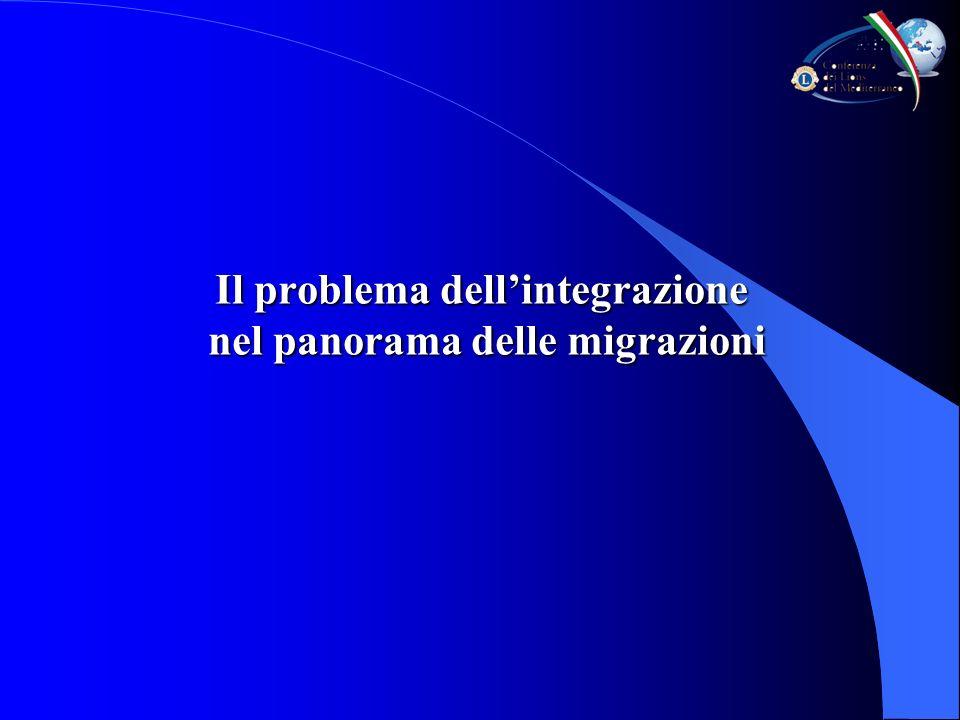 Il problema dellintegrazione nel panorama delle migrazioni