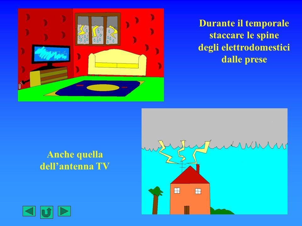 Durante il temporale staccare le spine degli elettrodomestici dalle prese Anche quella dellantenna TV