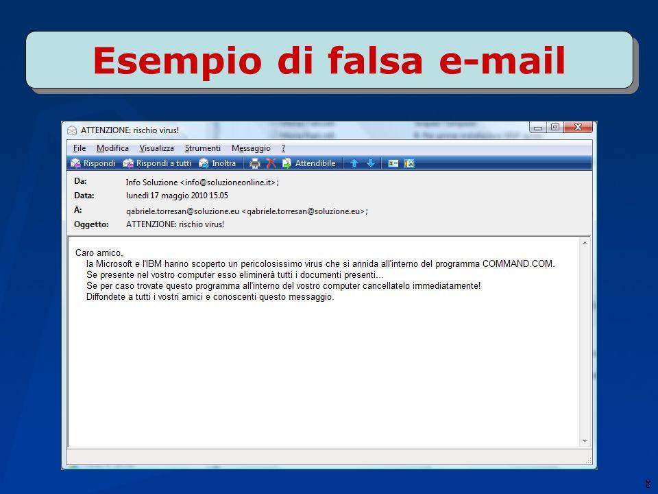 8 Esempio di falsa e-mail