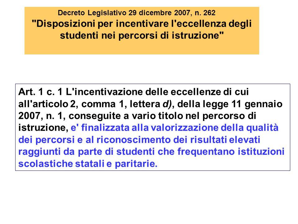 Decreto Legislativo 29 dicembre 2007, n. 262