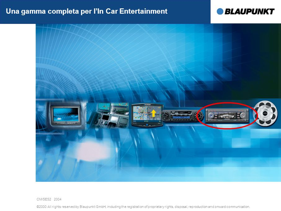 ©2000 All rights reserved by Blaupunkt GmbH, including the registration of proprietary rights, disposal, reproduction and onward communication.