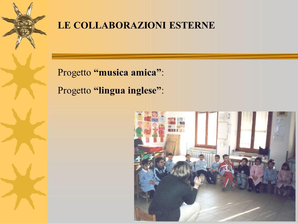 Progetto musica amica: Progetto lingua inglese: LE COLLABORAZIONI ESTERNE