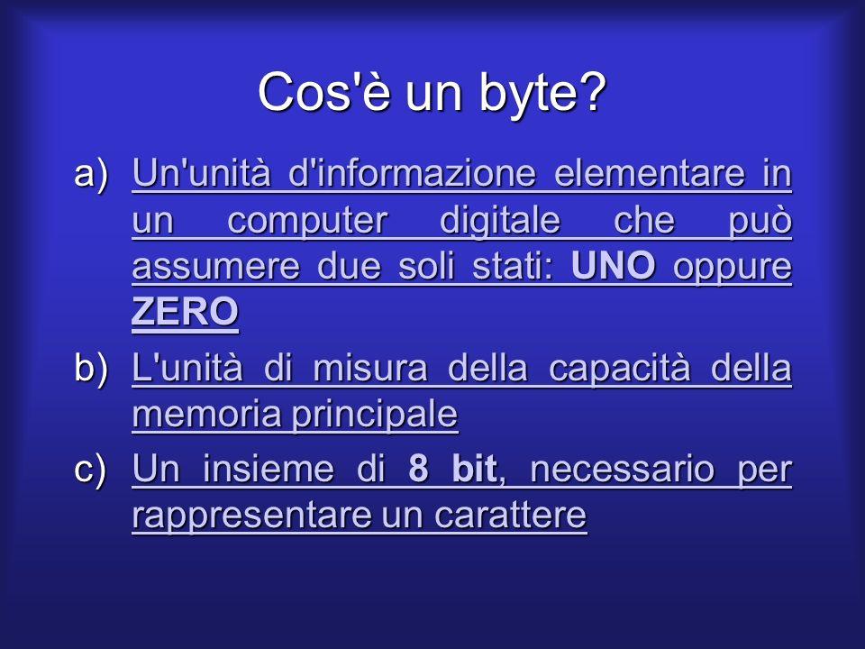 Cos è un byte.