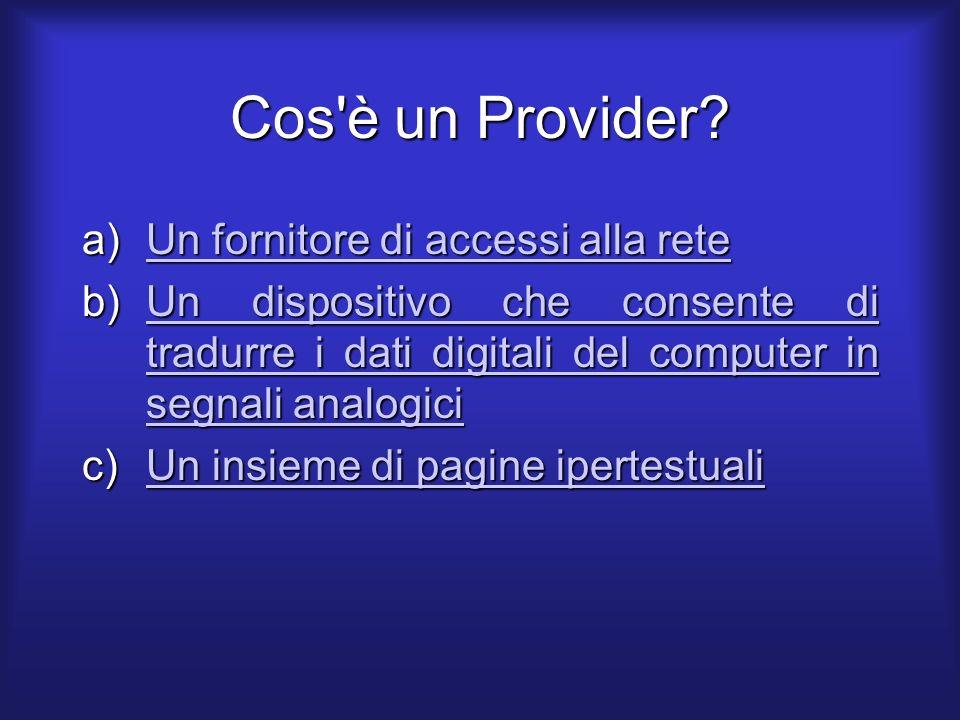 Cos è un Provider.