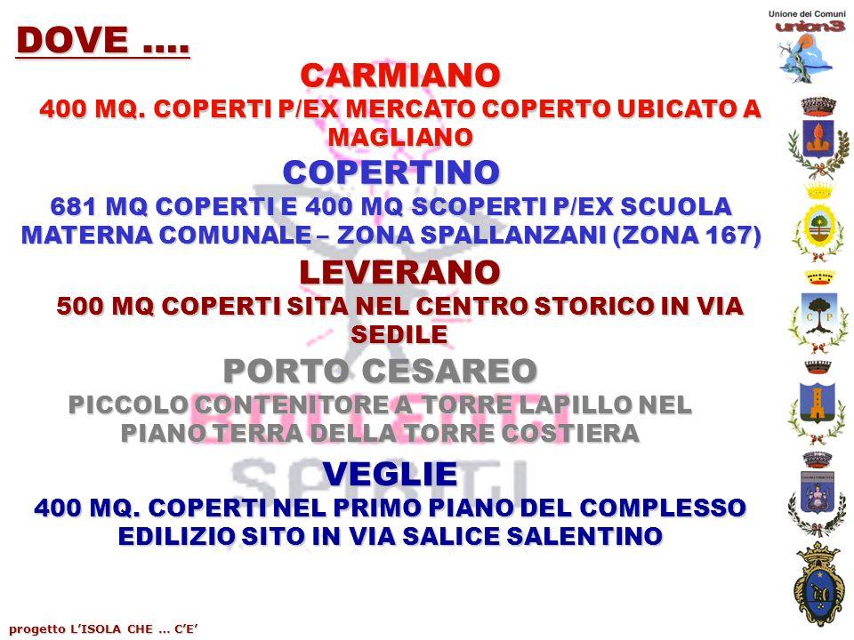 progetto LISOLA CHE … CE DOVE …. CARMIANO 400 MQ.