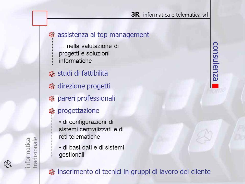 consulenza informatica tradizionale assistenza al top management studi di fattibilità … nella valutazione di progetti e soluzioni informatiche direzio