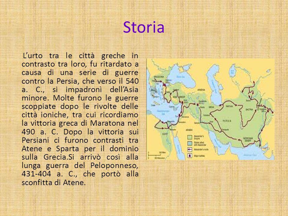Storia Lurto tra le città greche in contrasto tra loro, fu ritardato a causa di una serie di guerre contro la Persia, che verso il 540 a. C., si impad