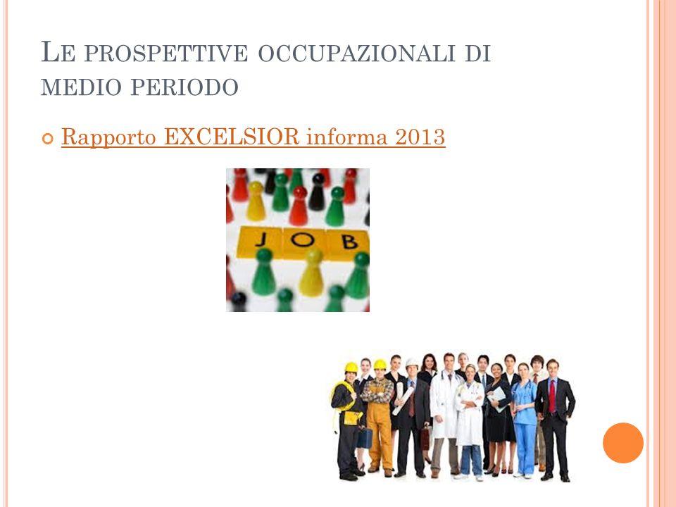 L E PROSPETTIVE OCCUPAZIONALI DI MEDIO PERIODO Rapporto EXCELSIOR informa 2013