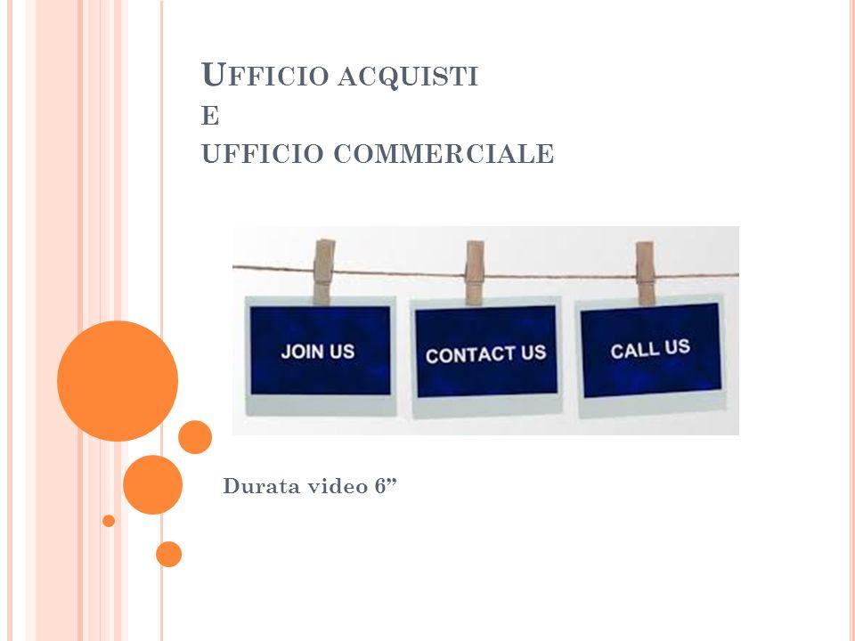 U FFICIO ACQUISTI E UFFICIO COMMERCIALE Durata video 6