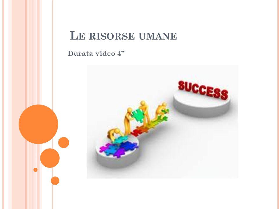 L E RISORSE UMANE Durata video 4