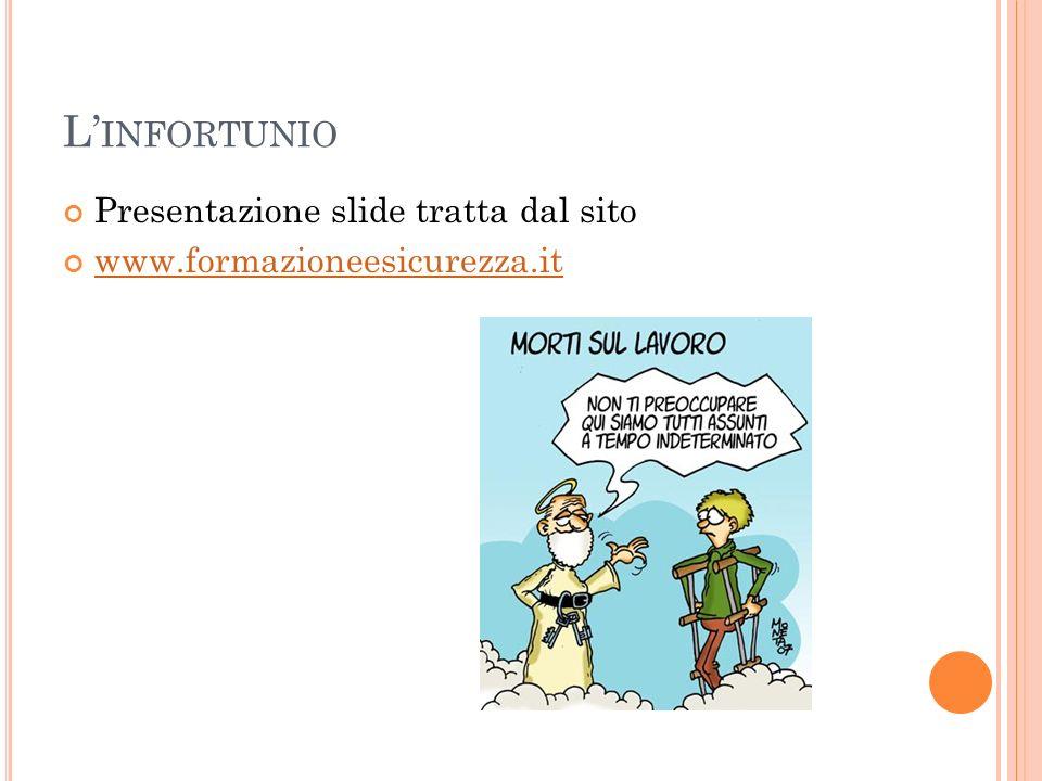 L INFORTUNIO Presentazione slide tratta dal sito www.formazioneesicurezza.it