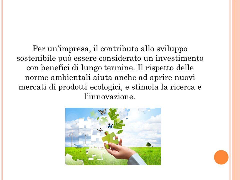 Per unimpresa, il contributo allo sviluppo sostenibile può essere considerato un investimento con benefici di lungo termine. Il rispetto delle norme a