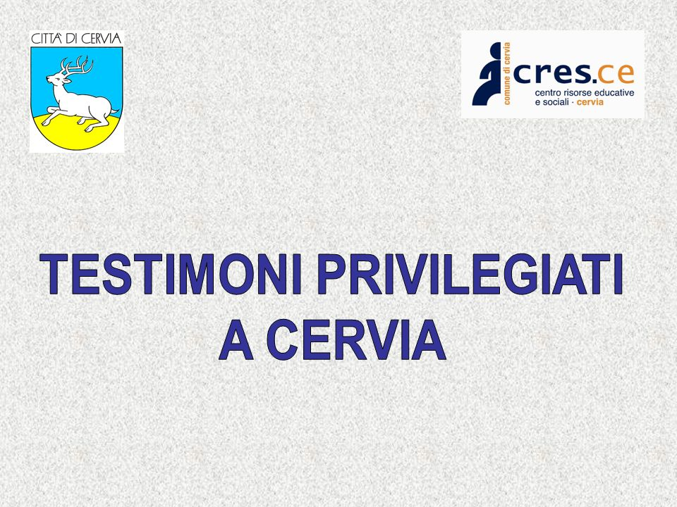 PROJECT MANAGEMENT Comune di Cervia attraverso il CENTRO RISORSE FINANCED PIANI SOCIALI DI ZONA (Legge Quadro 328/00 L.R.