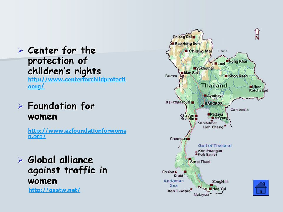 Center for the protection of childrens rights Center for the protection of childrens rights h ttp://www.centerforchildprotecti oorg / Foundation for women Foundation for women http://www.azfoundationforwome n.org/ Global alliance against traffic in women Global alliance against traffic in women http://gaatw.net/