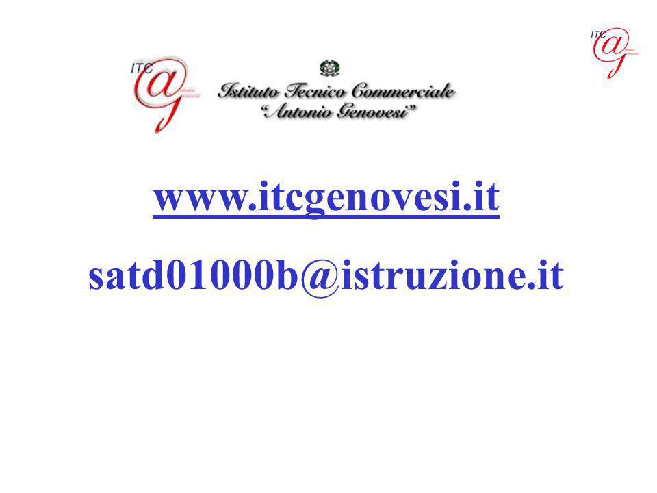 www.itcgenovesi.it satd01000b@istruzione.it