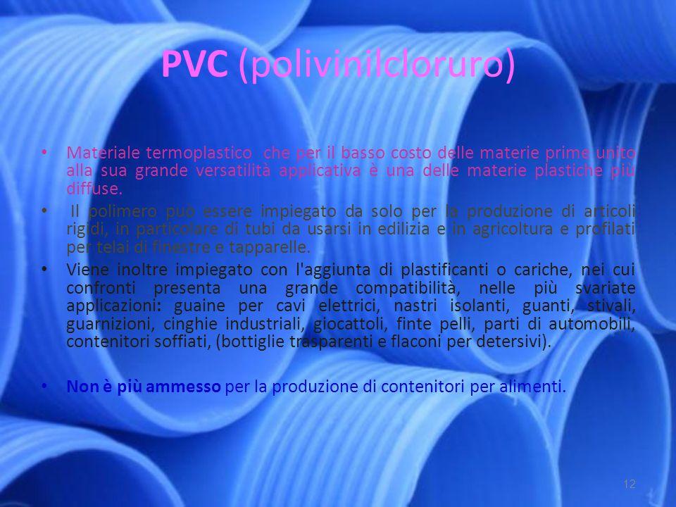 PP (polipropilene) Polimero dell idrocarburo insaturo propilene.