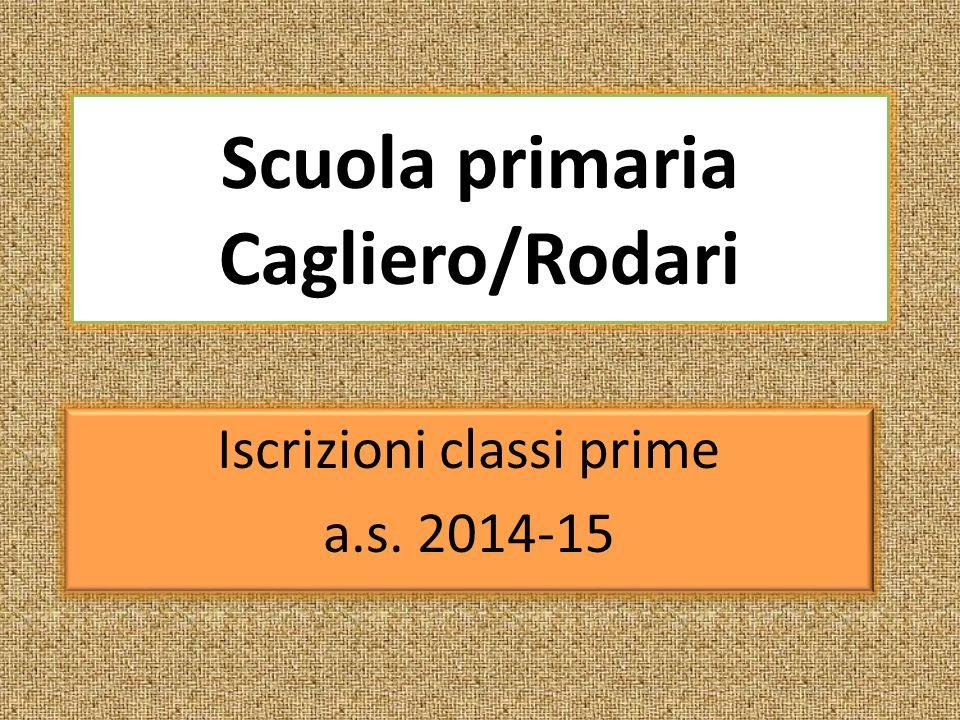 Scuola primaria Cagliero/Rodari Iscrizioni classi prime a.s.