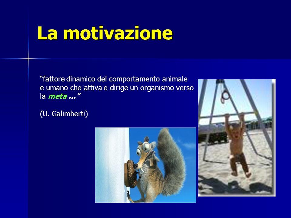La motivazione fattore dinamico del comportamento animale e umano che attiva e dirige un organismo verso la meta... (U. Galimberti)