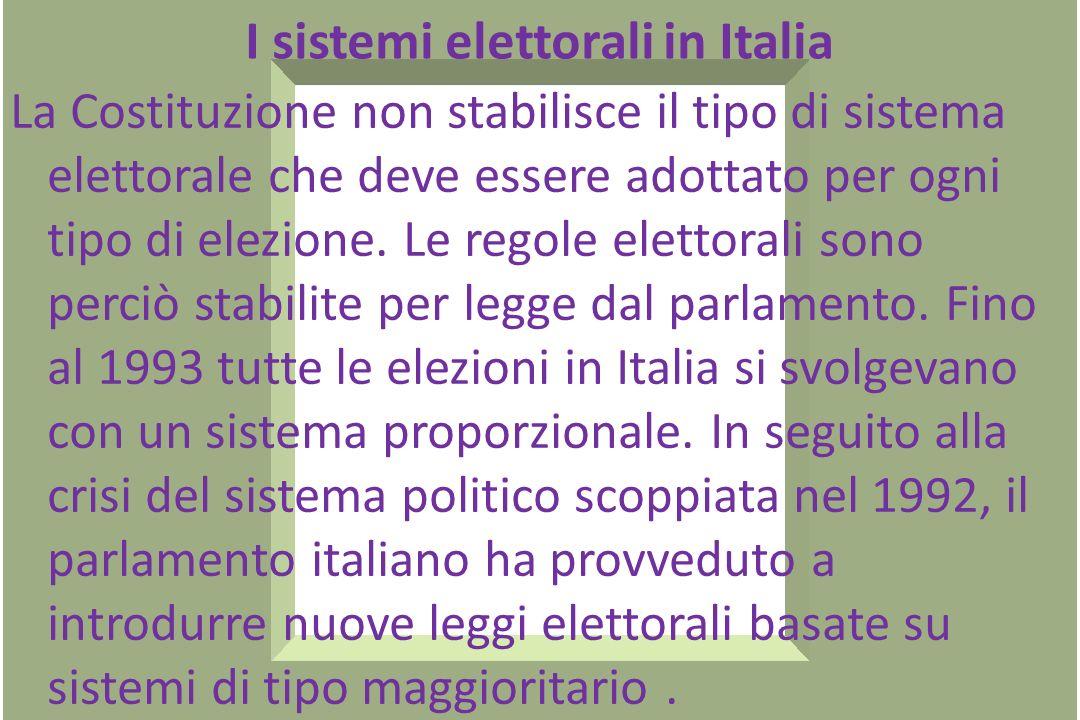 A livello comunale sono eletti direttamente dai cittadini sia il sindaco sia il consiglio comunale. A livello Europeo lunico organo eletto direttament