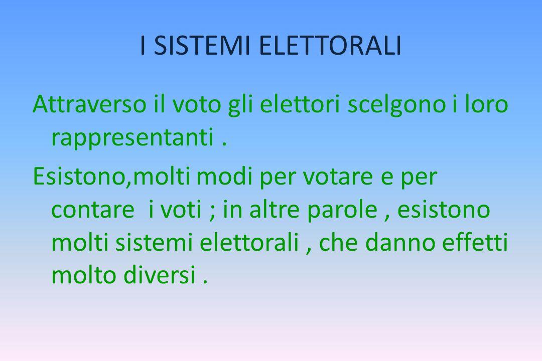 LASTENSIONE Molti elettori non vanno a votare. Il fenomeno dellastensione elettorale è assai diffuso in tutte le democrazie contemporanee. Lelettore p
