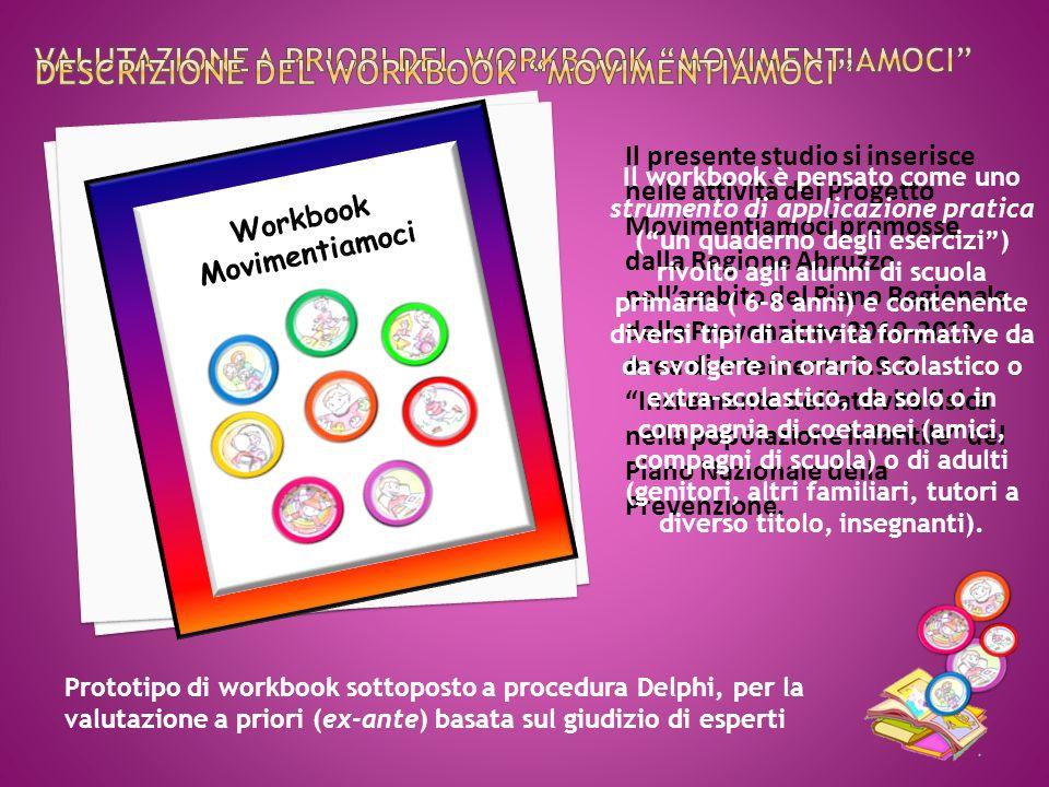 Il presente studio si inserisce nelle attività del Progetto Movimentiamoci promosse dalla Regione Abruzzo nellambito del Piano Regionale della Prevenzione 2010-2012, Area di Intervento 2.9.3.
