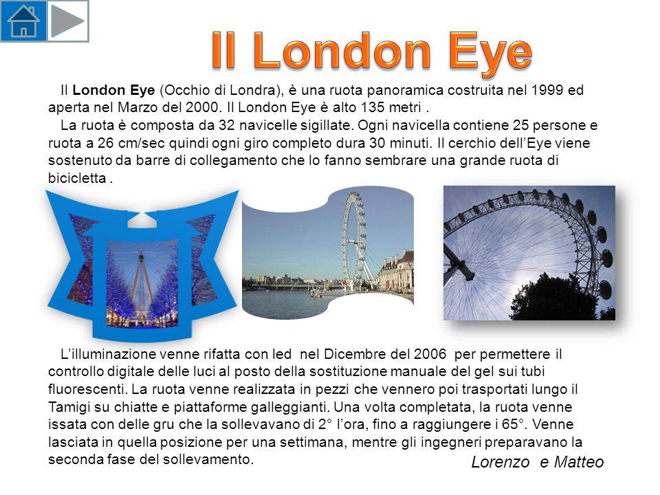 Il London Eye (Occhio di Londra), è una ruota panoramica costruita nel 1999 ed aperta nel Marzo del 2000.