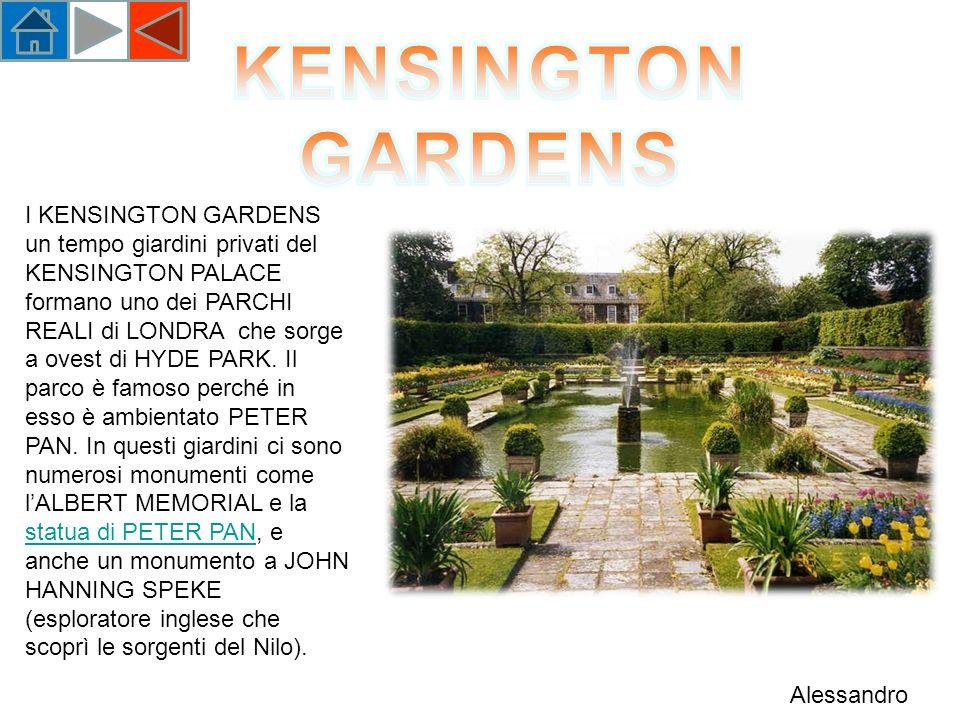 I KENSINGTON GARDENS un tempo giardini privati del KENSINGTON PALACE formano uno dei PARCHI REALI di LONDRA che sorge a ovest di HYDE PARK.