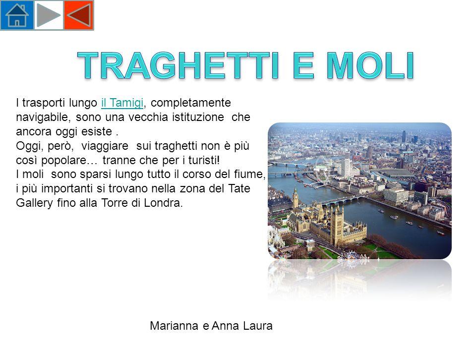 I trasporti lungo il Tamigi, completamente navigabile, sono una vecchia istituzione che ancora oggi esiste.il Tamigi Oggi, però, viaggiare sui traghetti non è più così popolare… tranne che per i turisti.