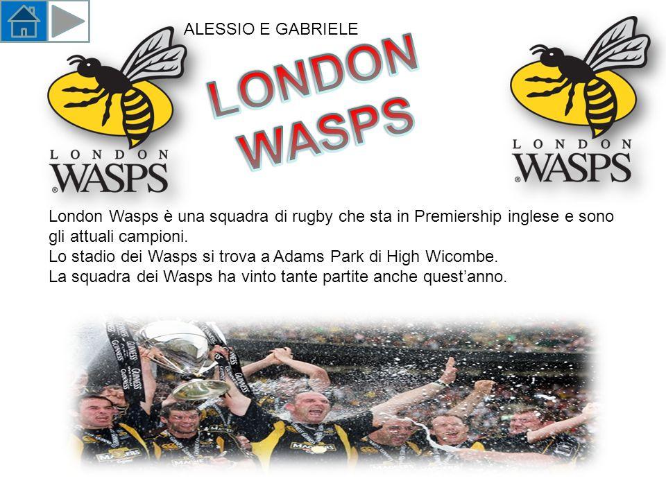 London Wasps è una squadra di rugby che sta in Premiership inglese e sono gli attuali campioni.