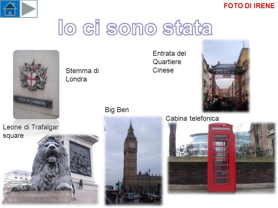 Cabina telefonica Big Ben Leone di Trafalgar square Stemma di Londra Entrata del Quartiere Cinese FOTO DI IRENE