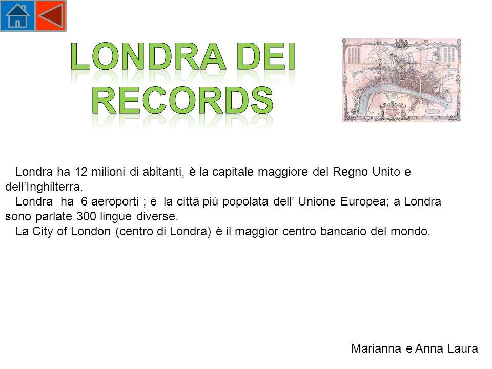 Londra ha 12 milioni di abitanti, è la capitale maggiore del Regno Unito e dellInghilterra.