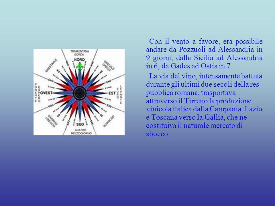 Il Tirreno veniva attraversato allaltezza dellarcipelago toscano, rasentando la Corsica orientale.