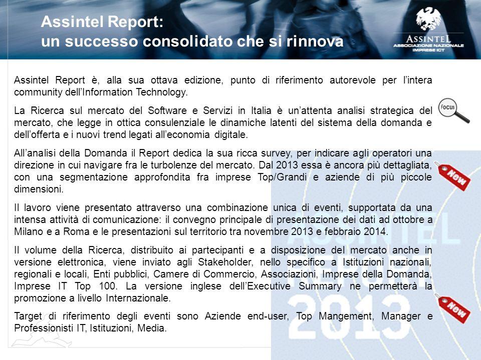 Assintel Report: un successo consolidato che si rinnova Assintel Report è, alla sua ottava edizione, punto di riferimento autorevole per lintera commu