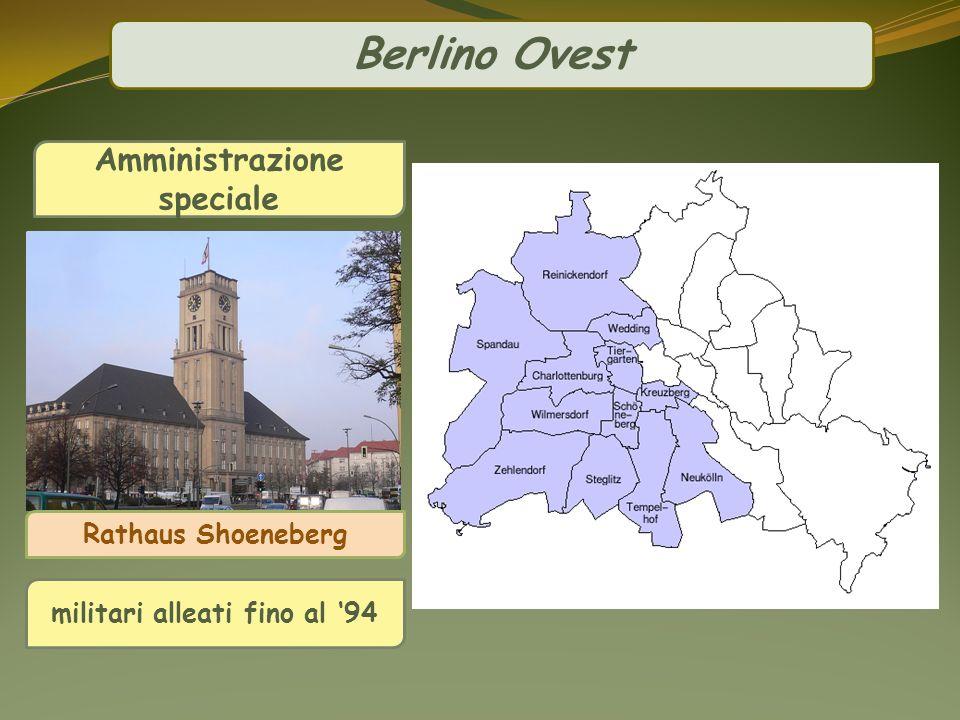 Berlino Ovest Amministrazione speciale militari alleati fino al 94 Rathaus Shoeneberg