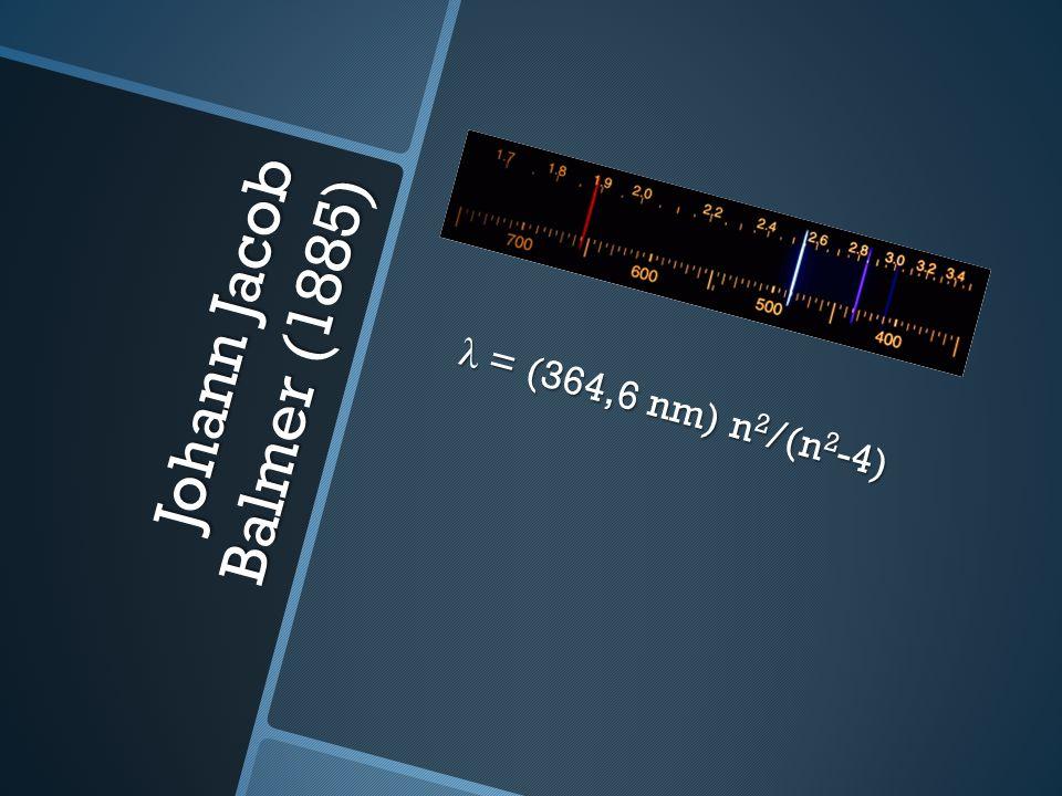 λ = (364,6 nm) n 2 /(n 2 -4)