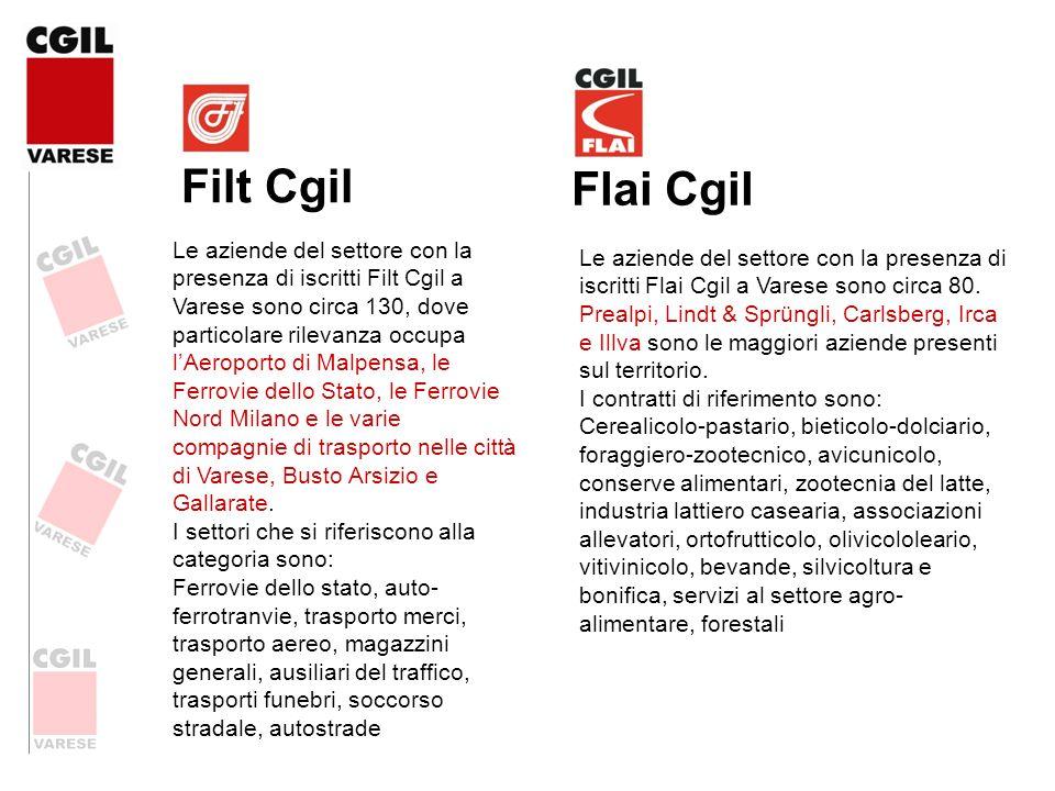 Filt Cgil Le aziende del settore con la presenza di iscritti Filt Cgil a Varese sono circa 130, dove particolare rilevanza occupa lAeroporto di Malpen