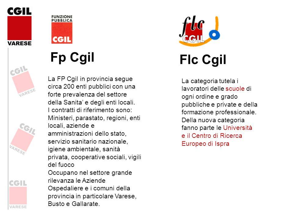 Fp Cgil La FP Cgil in provincia segue circa 200 enti pubblici con una forte prevalenza del settore della Sanita e degli enti locali. I contratti di ri