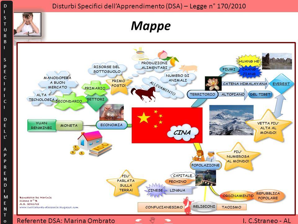 Referente DSA: Marina Ombrato I. C.Straneo - AL Disturbi Specifici dellApprendimento (DSA) – Legge n° 170/2010 DISTURBISpECIFICIDELLAPPRENDIMENToDISTU