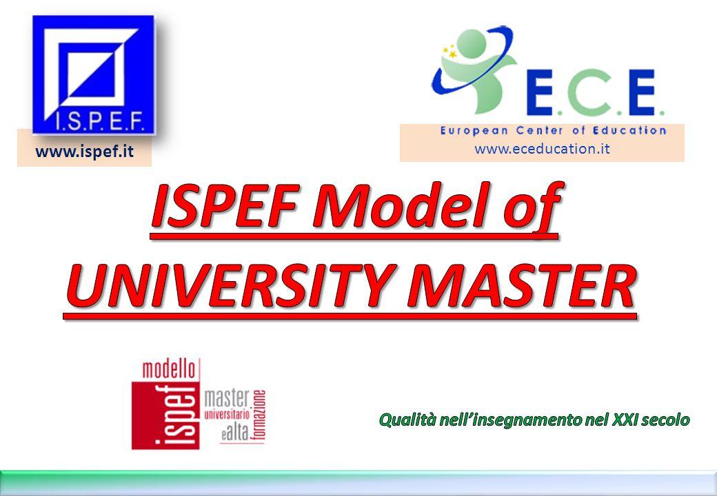 12 LA FORMAZIONE PER COMPETENZE NEL MODELLO ISPEF DI MASTER ©Copyright I.S.P.E.F.