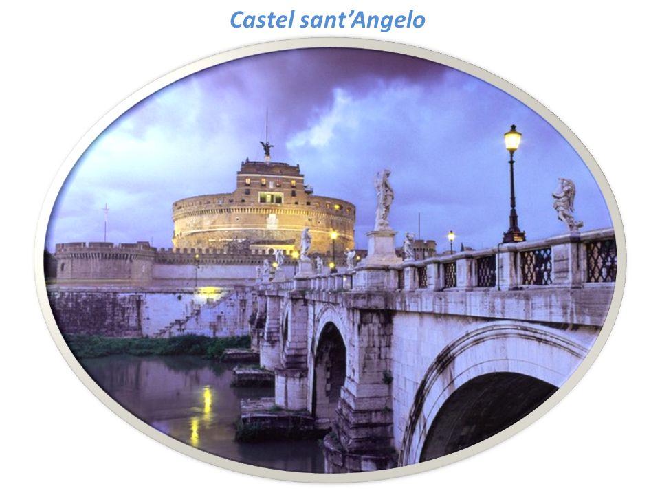 CASTEL SANTANGELO il fermaglio delle mura Aureliane Castel SantAngelo costruito nel 123 d.C.