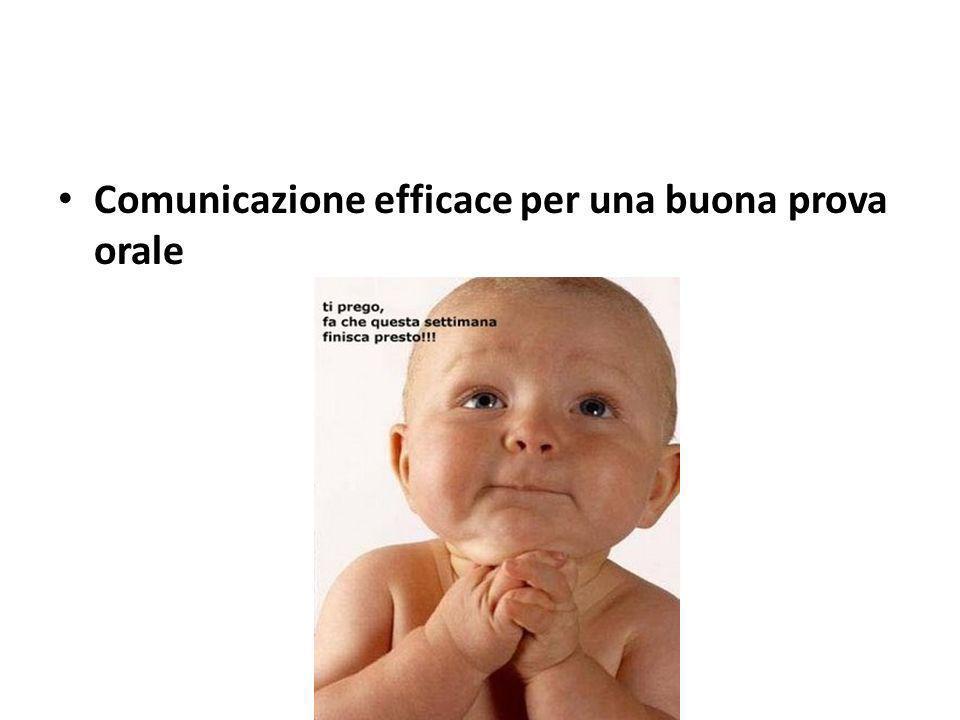 Comunicazione efficace per una buona prova orale