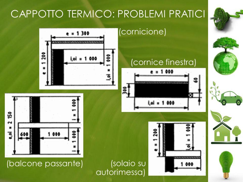 CAPPOTTO TERMICO: PROBLEMI PRATICI (balcone passante) (cornicione) (solaio su autorimessa) (cornice finestra)