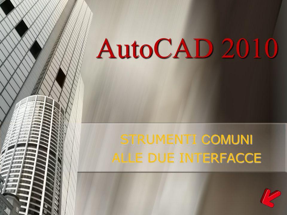 AutoCAD 2010 STRUMENTI COMUNI ALLE DUE INTERFACCE