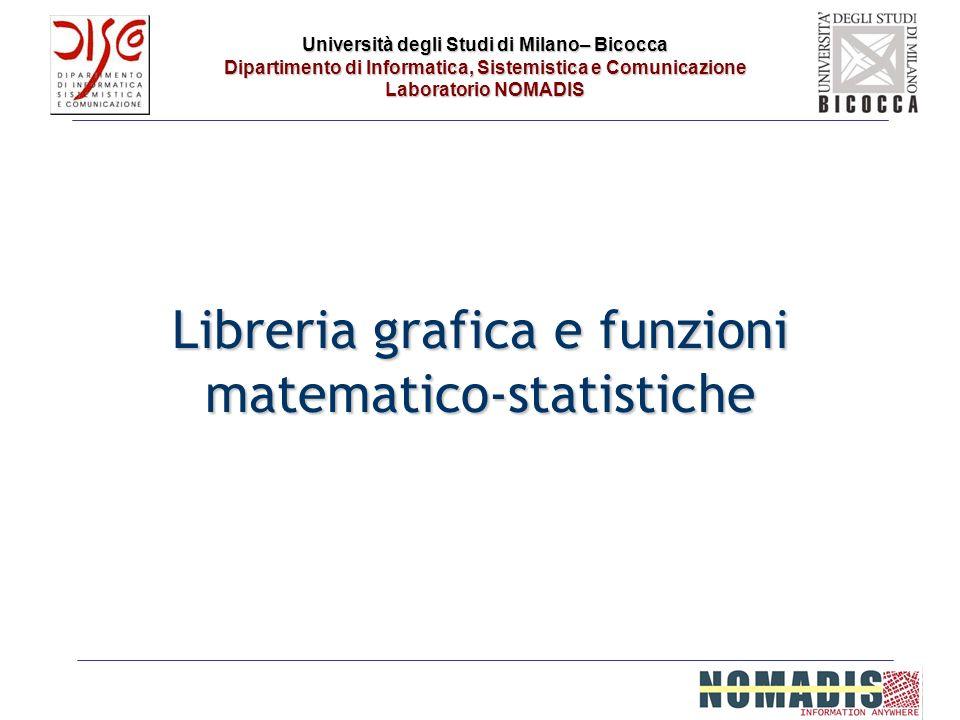 Università degli Studi di Milano– Bicocca Dipartimento di Informatica, Sistemistica e Comunicazione Laboratorio NOMADIS Libreria grafica e funzioni ma